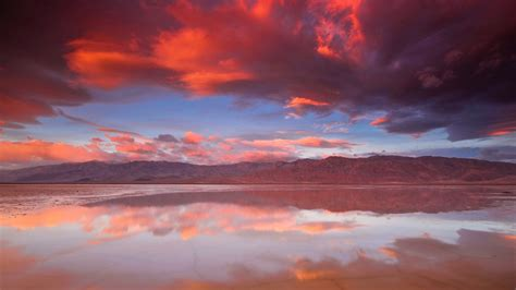 wallpaper death valley national park sunrise clouds