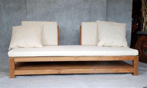 canapé en teck canapé lit en teck meubles en teck uniques