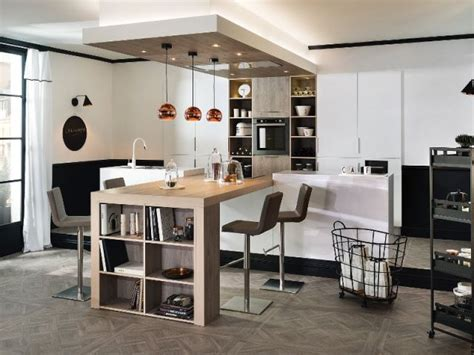 idee relooking cuisine cuisine avec table de bois