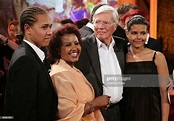 German actor Karlheinz Boehm , his wife Almaz and his two ...