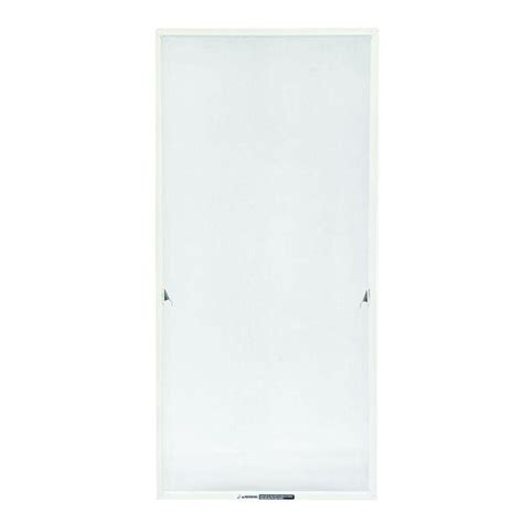retractable bug screen adjustable widthheight white aluminum fiberglass