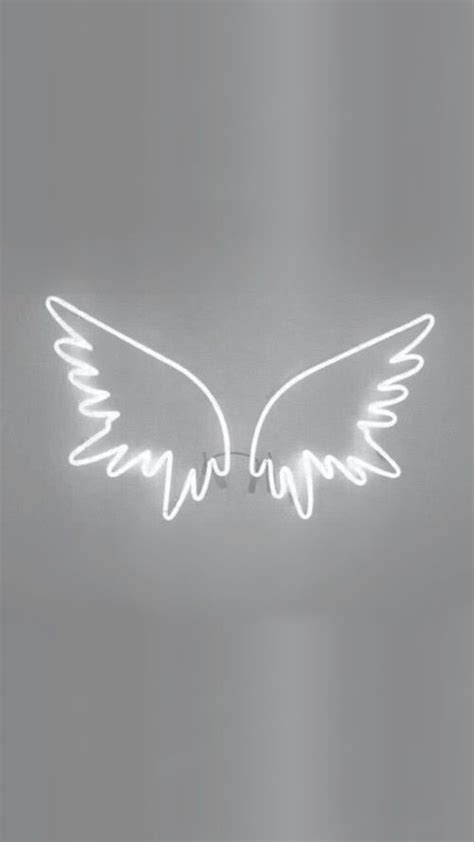 wings white and light image white wallpaper for iphone