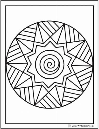 Coloring Adults Pages Adult Simple Printable Mandala