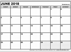 June 2018 Calendar 2017 calendar with holidays