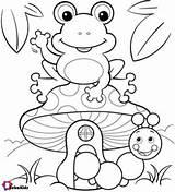 Frog Coloring Pages Printable Spring Colouring Animal Bubakids Kindergarten Getdrawings Sheets Cartoon Super Sheet Frogs Kopier Tegne Summer Einstein Toad sketch template