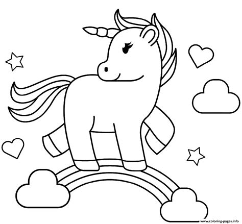 rainbow unicorn coloring pages printable