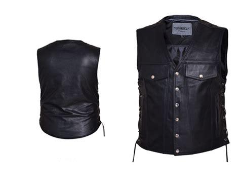 Unik Leather Motorcycle Vest For Men