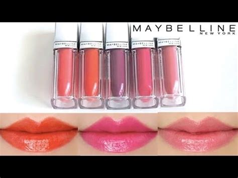 maybelline matte lipstick maybelline color elixir lip color swatches on 5