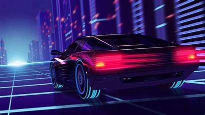 Neon 4k Wallpapers Retrowave Synthwave Ferrari Desktop