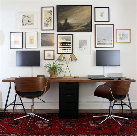 Twoperson Ikea Desk With Lerberg Trestle Legs And Karlby