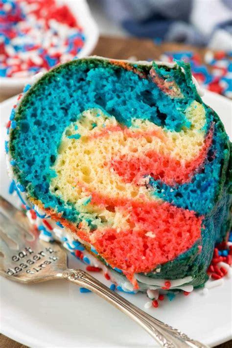 fireworks bundt cake crazy  crust