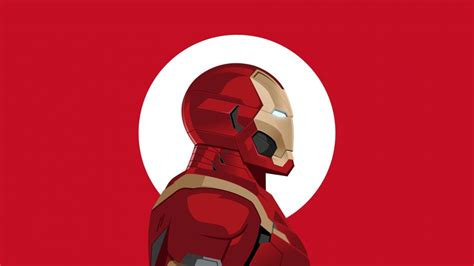 iron man minimalist logo hd wallpaper  gludy
