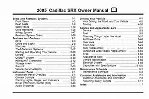 Cadillac Srx 2005 Owner U0026 39 S Manual  U2013 Pdf Download