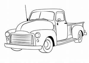 disegni da colorare disegni da colorare veicolo d39epoca With 1955 ford f100 red