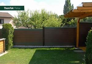 thomtekr perilux das neue schall und sichtschutz zaunsystem With französischer balkon mit garten schallschutzwand