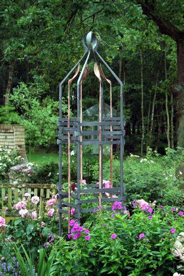 metal garden obelisk forged steel copper garden sculpture garden obelisk