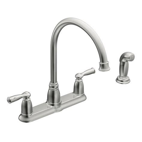moen two handle kitchen faucet moen banbury high arc 2 handle standard kitchen faucet