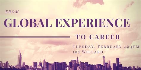 from global experience to career workshop liberal arts