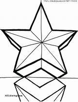 Star Coloring Christmas Drawing Pages Printable Getcolorings Clipartmag Bright sketch template