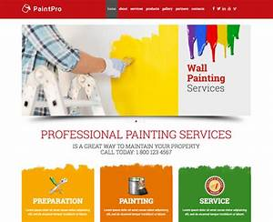 House Painting website template Gridgum