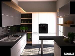 cucina angolo con piccola penisola arredo casa fvg With cucina piccola con penisola
