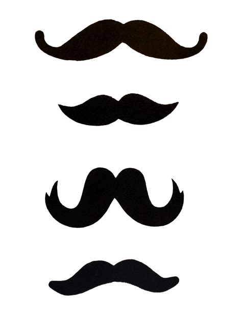 Mustache Cut Outs Printable  Clipart Best