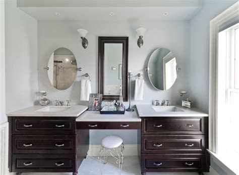 bathroom simple double vanity  makeup area