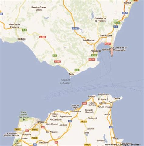 map  southern spain  gibraltar pictures  pin