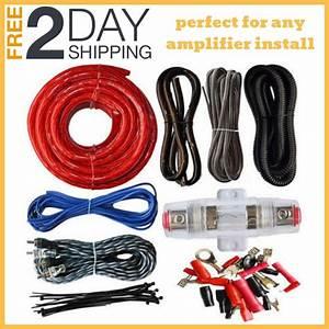 4 Gauge Rca 2200w Subwoofer Car Audio Cable Kit Amp