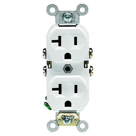 leviton  amp commercial grade duplex outlet white