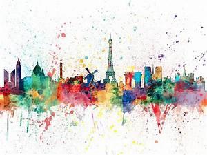 Paris France Skyline Digital Art by Michael Tompsett