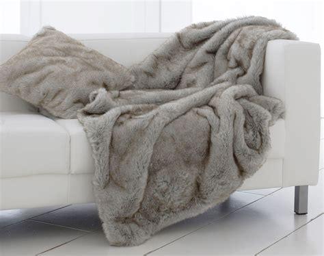 plaid canapé grande taille plaid et jetés imitation fourrure becquet