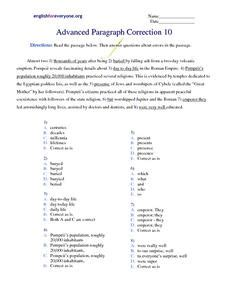 correcting paragraph errors lesson plans worksheets