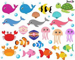 50%OFFSALE Sea Animal Clipart,Sea Animals Clipart,Sea ...