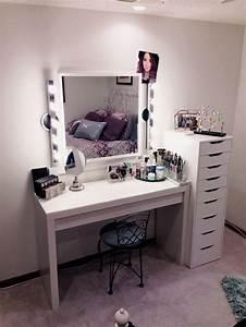 Coiffeuse Meuble Ikea : vanit table de maquillage ikea maquilleuse pinterest coiffeuses tables de maquillage et ~ Teatrodelosmanantiales.com Idées de Décoration