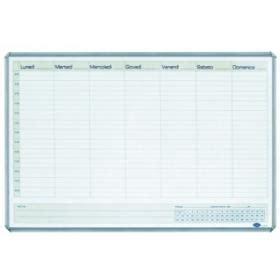 cornice a giorno 60x90 planning magnetico settimanale 60x90 cm lavagna