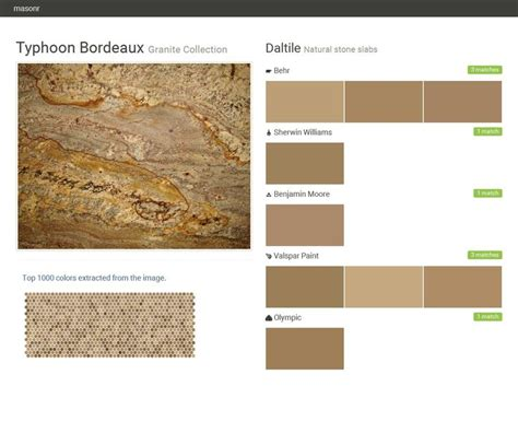 typhoon bordeaux granite collection natural slabs daltile behr sherwin williams