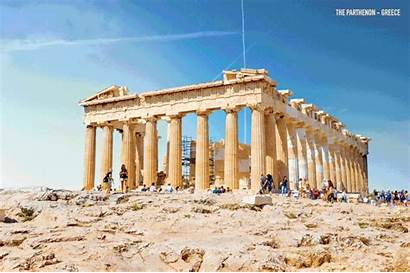 Ruins Parthenon Ancient Reconstructed Around