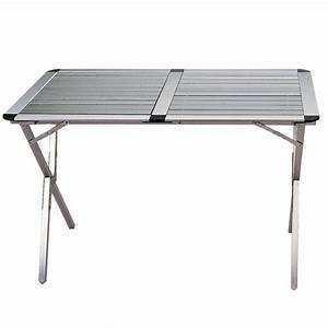 Table De Camping Pliante : table mobilier camping table camping aluminium highlander ~ Dailycaller-alerts.com Idées de Décoration