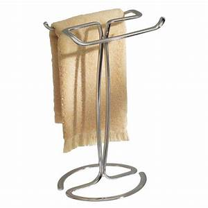 New countertop 2 arm bar metal towel rack stand holder for Bathroom counter towel holder