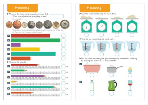 early learning resources measuring maths worksheets
