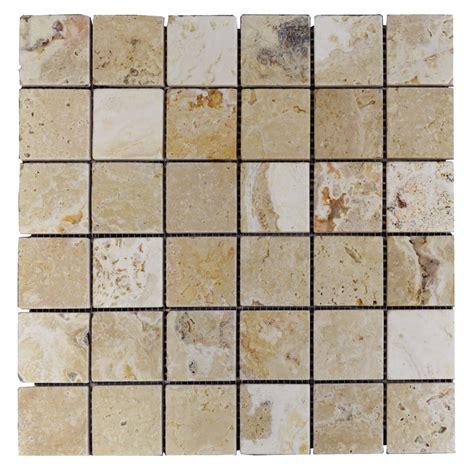 mosaic travertine tile leonardo tumbled travertine mosaic tiles 2x2 natural stone mosaics