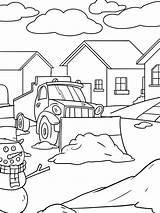Plow Sneeuwruimer Kleurplaat Leukekleurplaten sketch template