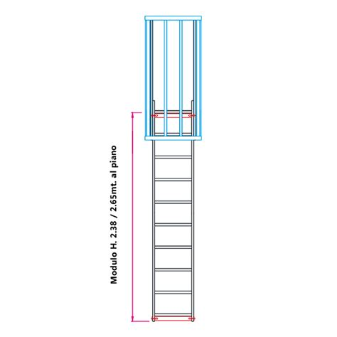 Scala Con Gabbia Scale Con Gabbia Di Protezione Modulare N 176 2