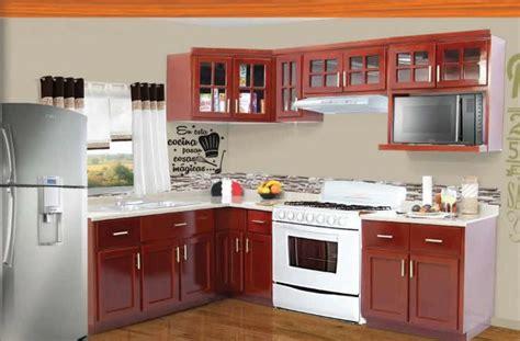 cocina integral modelo ceci color caoba