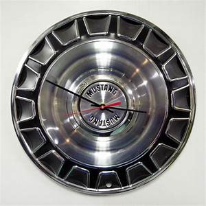 1970 Ford Mustang Hubcap Clock - Muscle Car Hub Cap - Gift for Him | Office ideas | 1970 ford ...