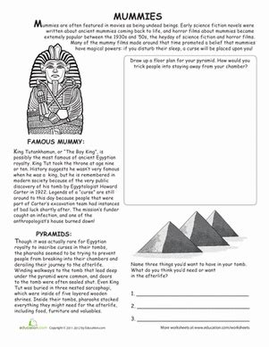 mummies  images halloween worksheets