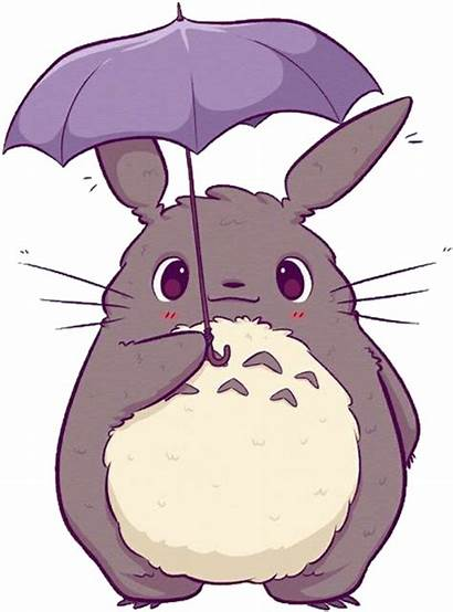 Totoro Kawaii Transparent Anime Dibujos Bunny Animal