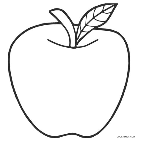 printable apple coloring pages  kids coolbkids