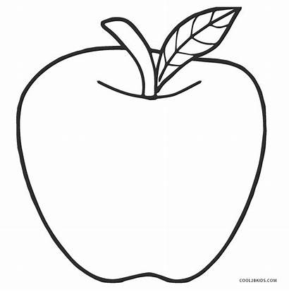 Apple Coloring Pages Printable Cool2bkids Adults Fruit